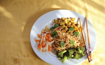 Need Comfort Food? Noodles with Peanut Sauce Hits the Spot