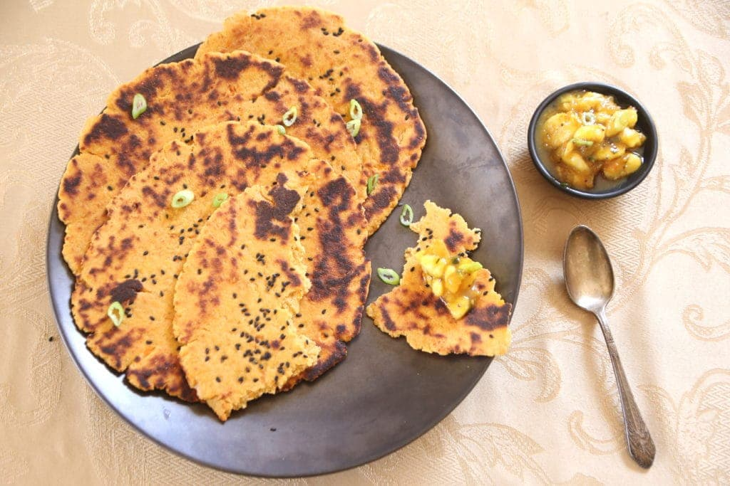 Kamut and Chickpea Naan with Banana Chutney by Robin Asbell