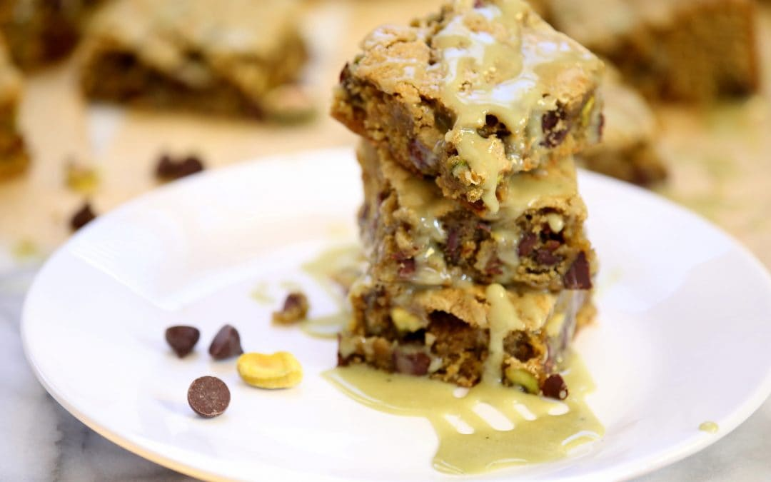 Happy Pistachio Day! Try My Pistachio Matcha Blondies on for Size
