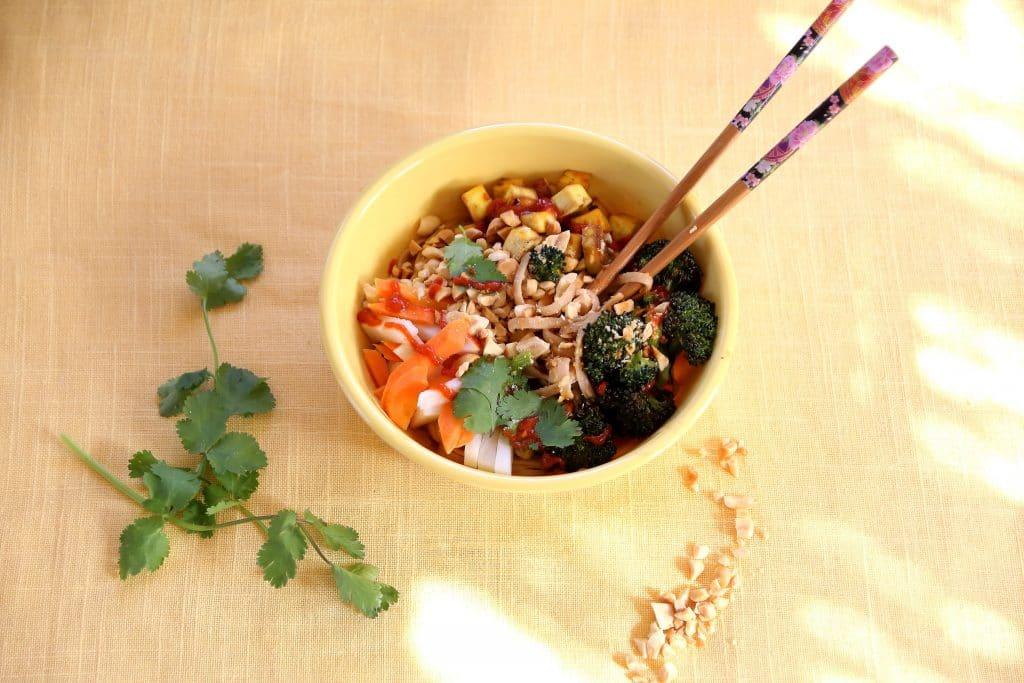 Comfort Food is Noodles in Peanut Sauce