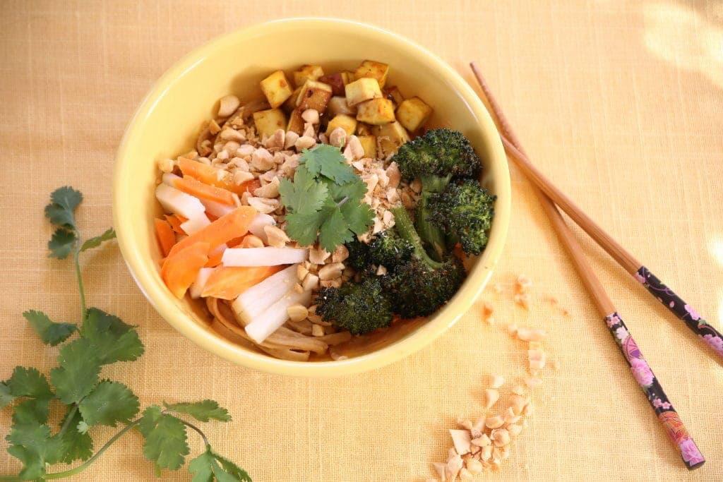 Soft Cubes of Tofu and Creamy Peanut Sauce Make Comfort Food