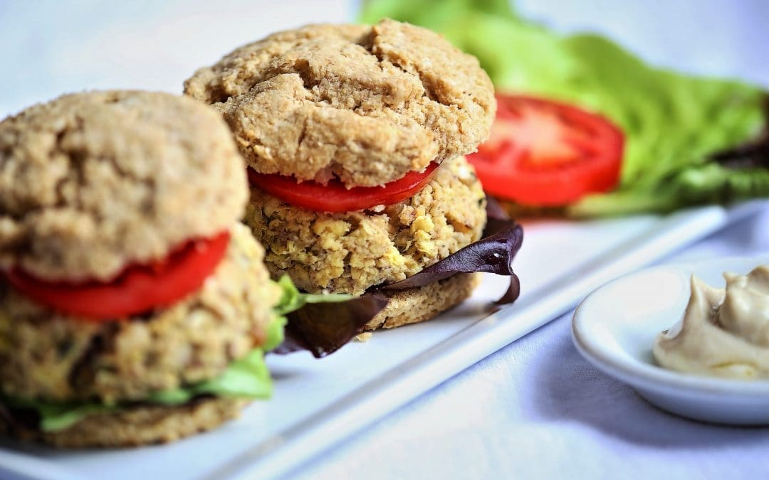 Little Artichoke Tofu Burgers on Biscuits, Sliders For The Rest Of Us