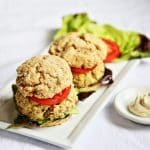 White Whole Wheat Biscuits in Artichoke Tofu Burger Sliders