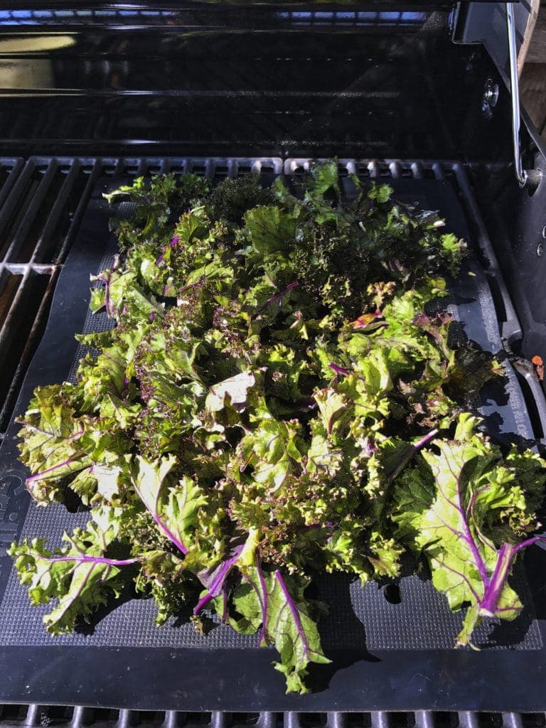 Kale on the Grill with a Silicone Mat