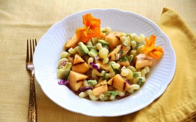 Celebrate Summer with Grilled Cantaloupe Pasta Salad