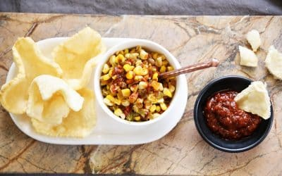 Try Sweet Corn Sambal with Krupuk, for an Indonesian-Flavored Summer Dip