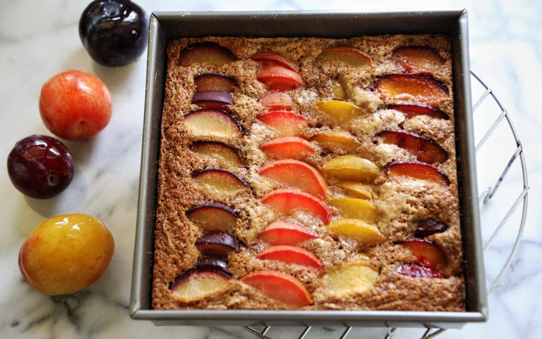Savor Summer with an Easy Plum Cake with Neat Eggs