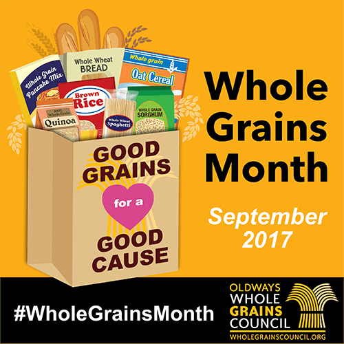 September is Whole Grains Month, Enter Your Fave Charity to Win Free Food!