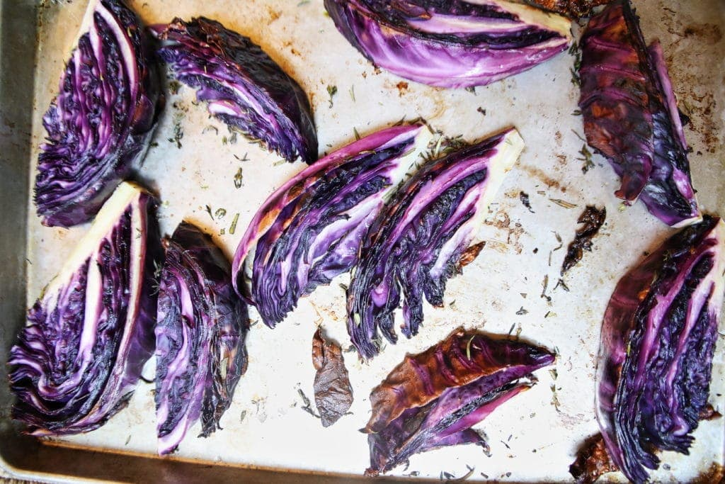 Roasted Purple Cabbage Wedges