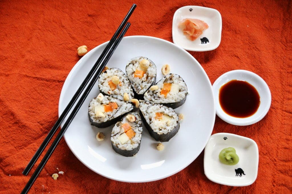 Thanksgiving Sushi with Hazelnuts