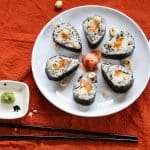 Thanksgiving Sushi with Maple Roasted Sweet Potatoes
