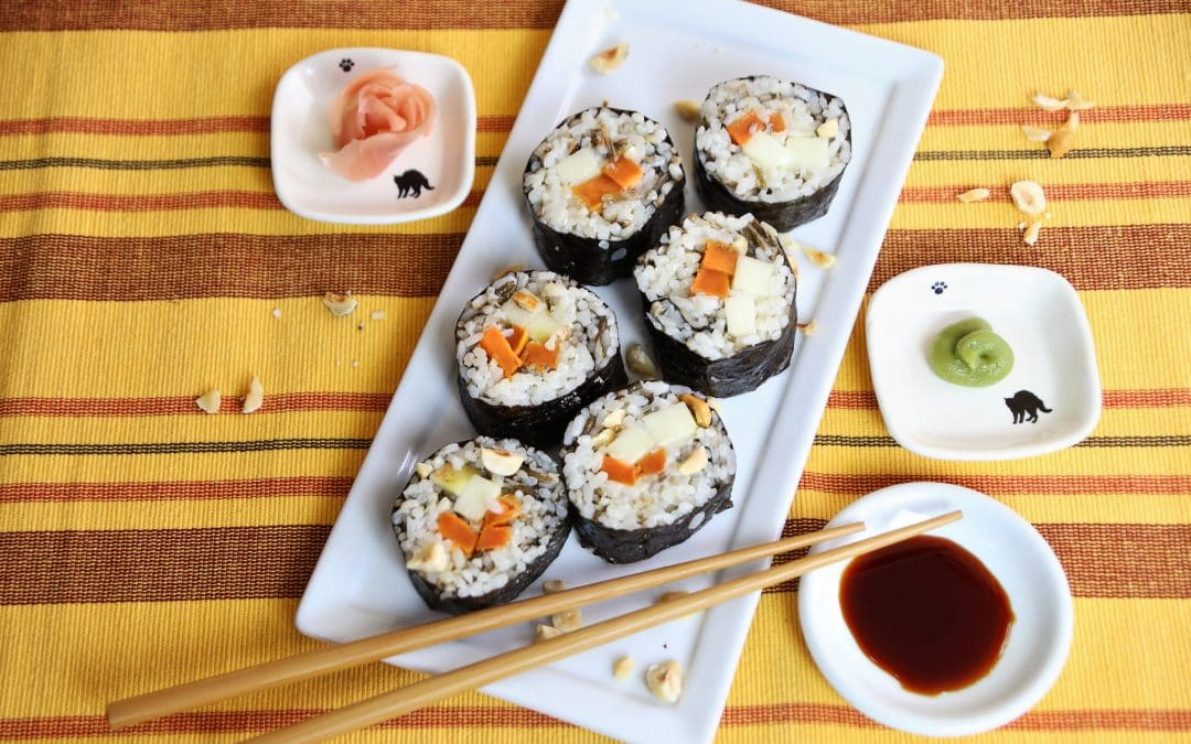 Try Sushi for Thanksgiving-With Wild Rice, Sweet Potatoes, and Apple!