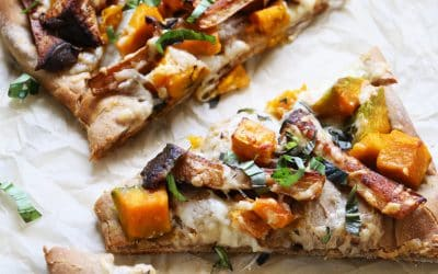 Smoky Trumpet Mushroom Pizza is Perfect for Fall