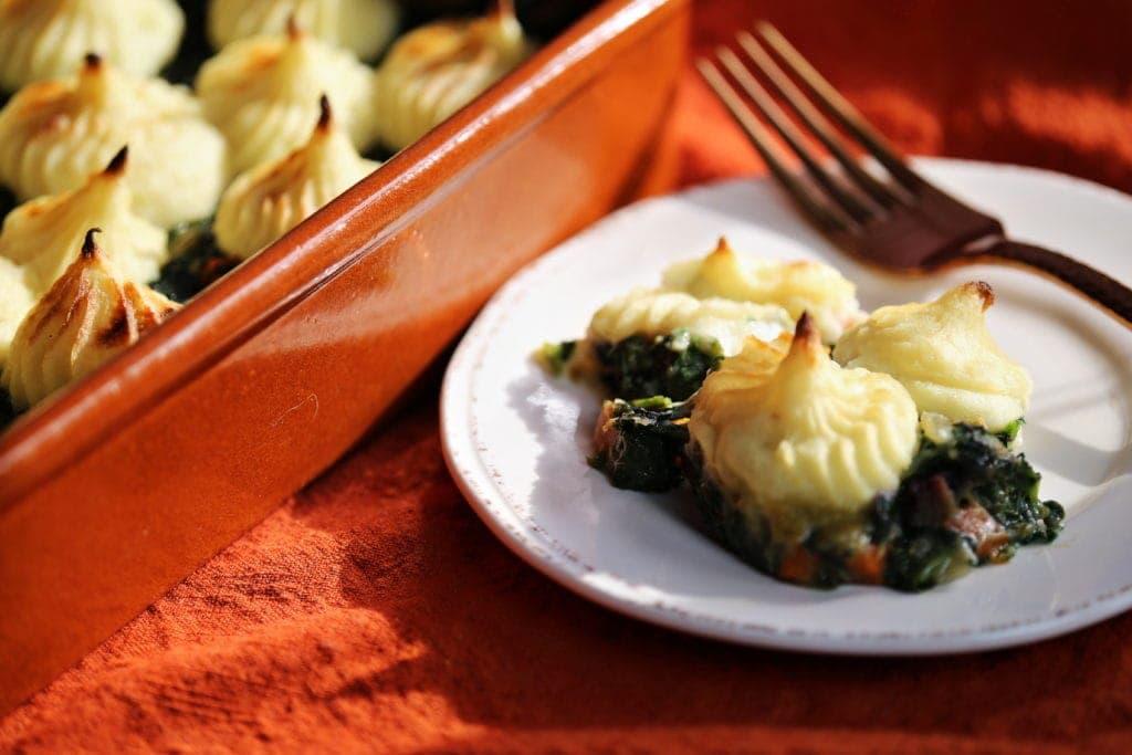 Roasted Garlic Parsnip Shepherd's Pie