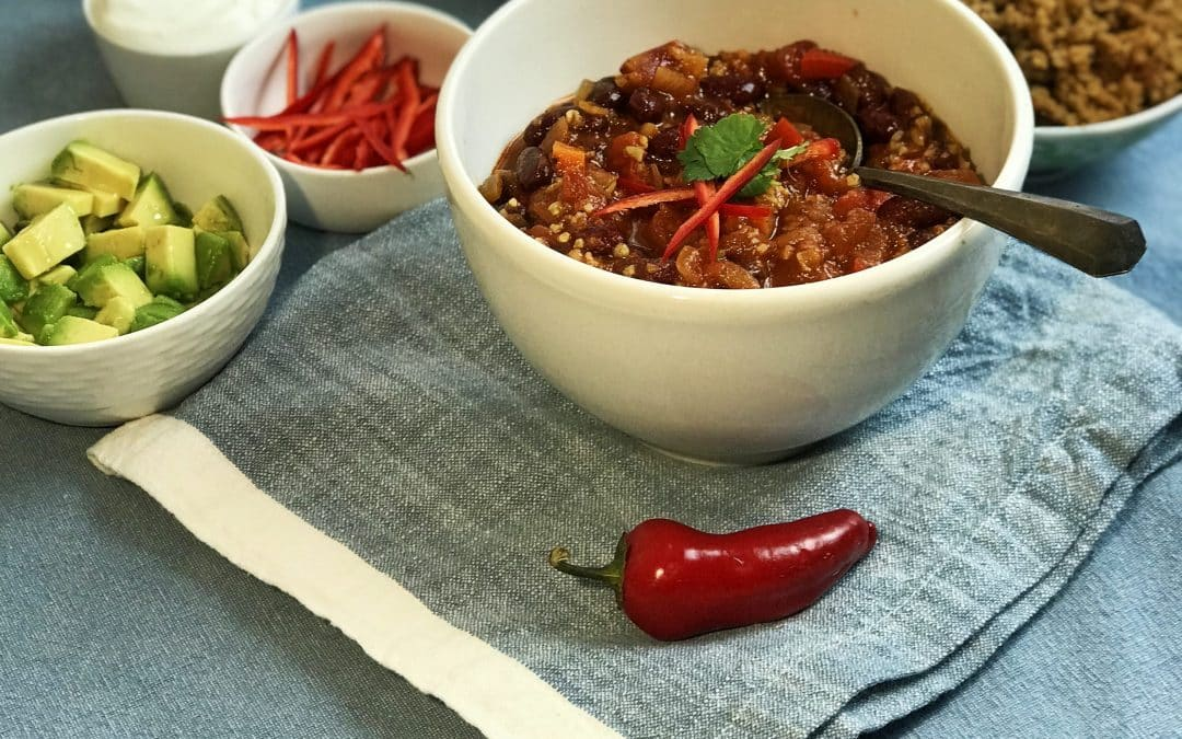Share a Heart-Healthy Chili Bar : It's Great Superbowl Food
