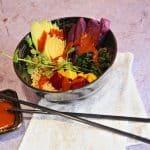 Bowl Food with Purple Sweet Potatoes