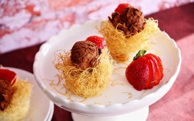 Can a Valentine's Dessert Be Decadent AND Light? Crispy Pastry Nests with Aquafaba Mousse and Berries are!