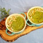 Creamy Kale Soup with Rosemary and Almond Milk