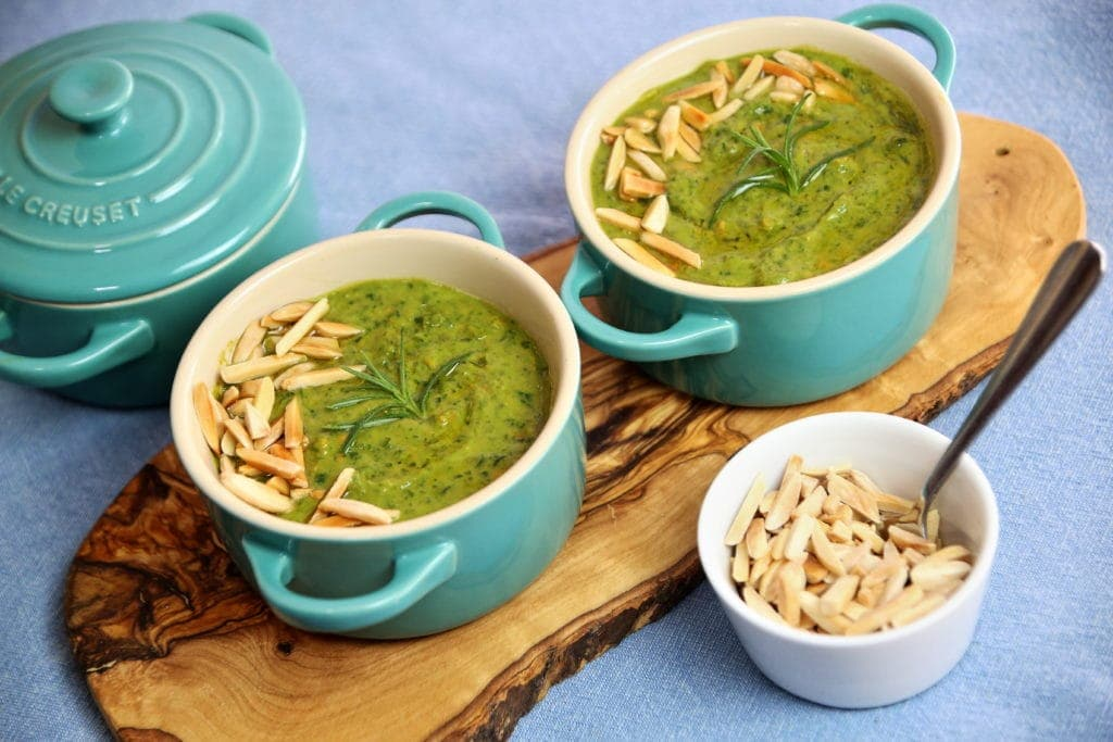 Creamy Kale Soup with Almonds