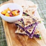 Purple Sweet Potato Quesadillas