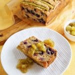 Rhubarb Blueberry Banana Bread