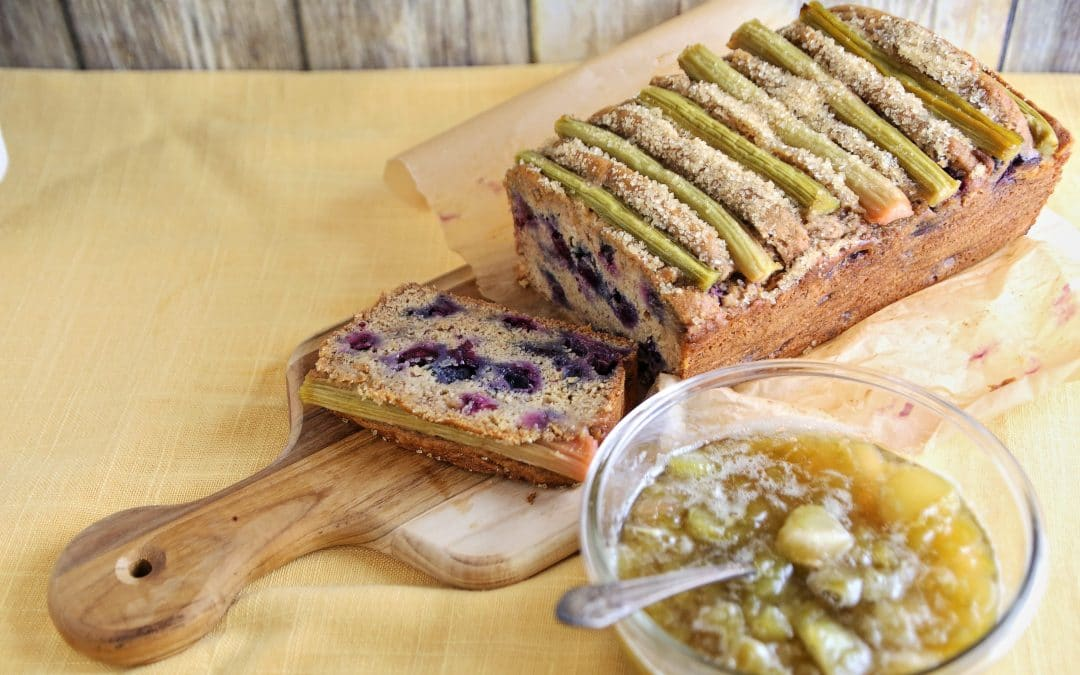 Make Rhubarb the Star on your Blueberry Banana Bread
