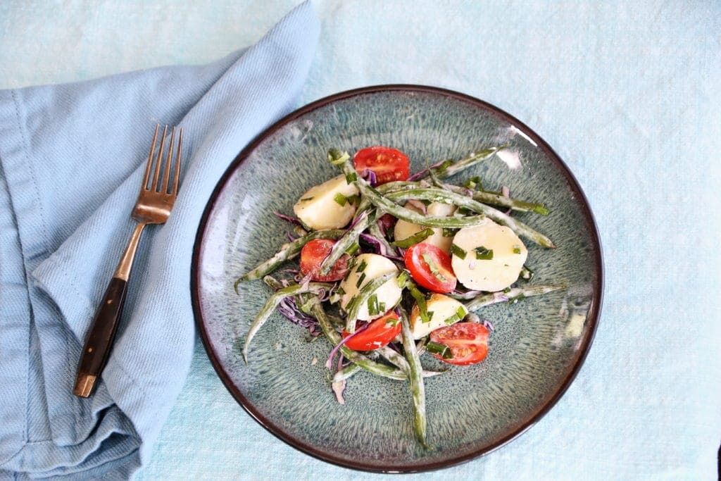 New Potato and Green Beans Salad with Basil