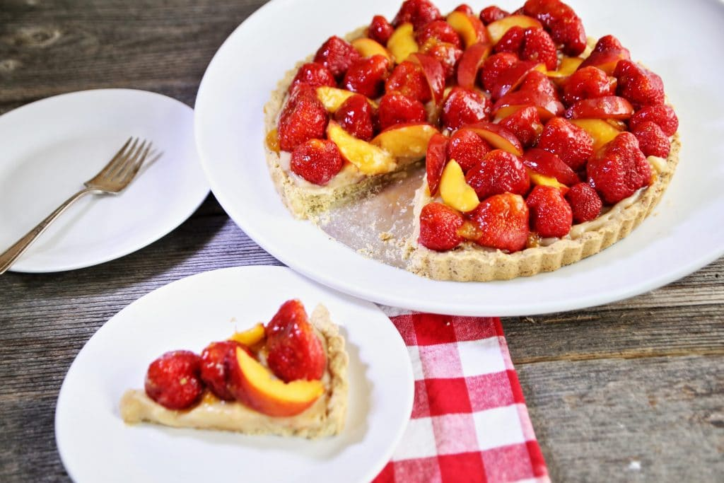Vegan Fresh Strawberry Tart