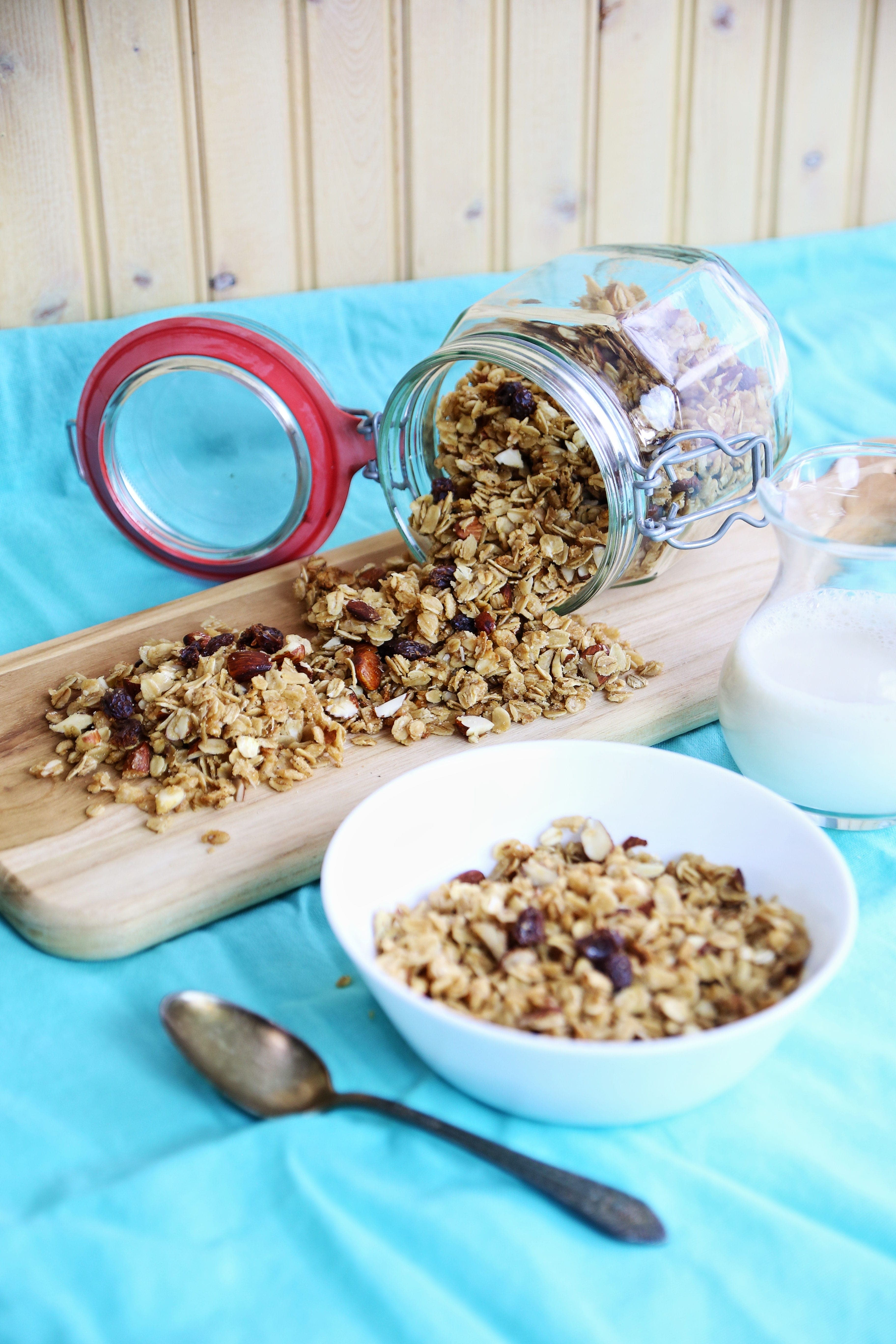Making Granola in the Crockpot keeps your kitchen cool!