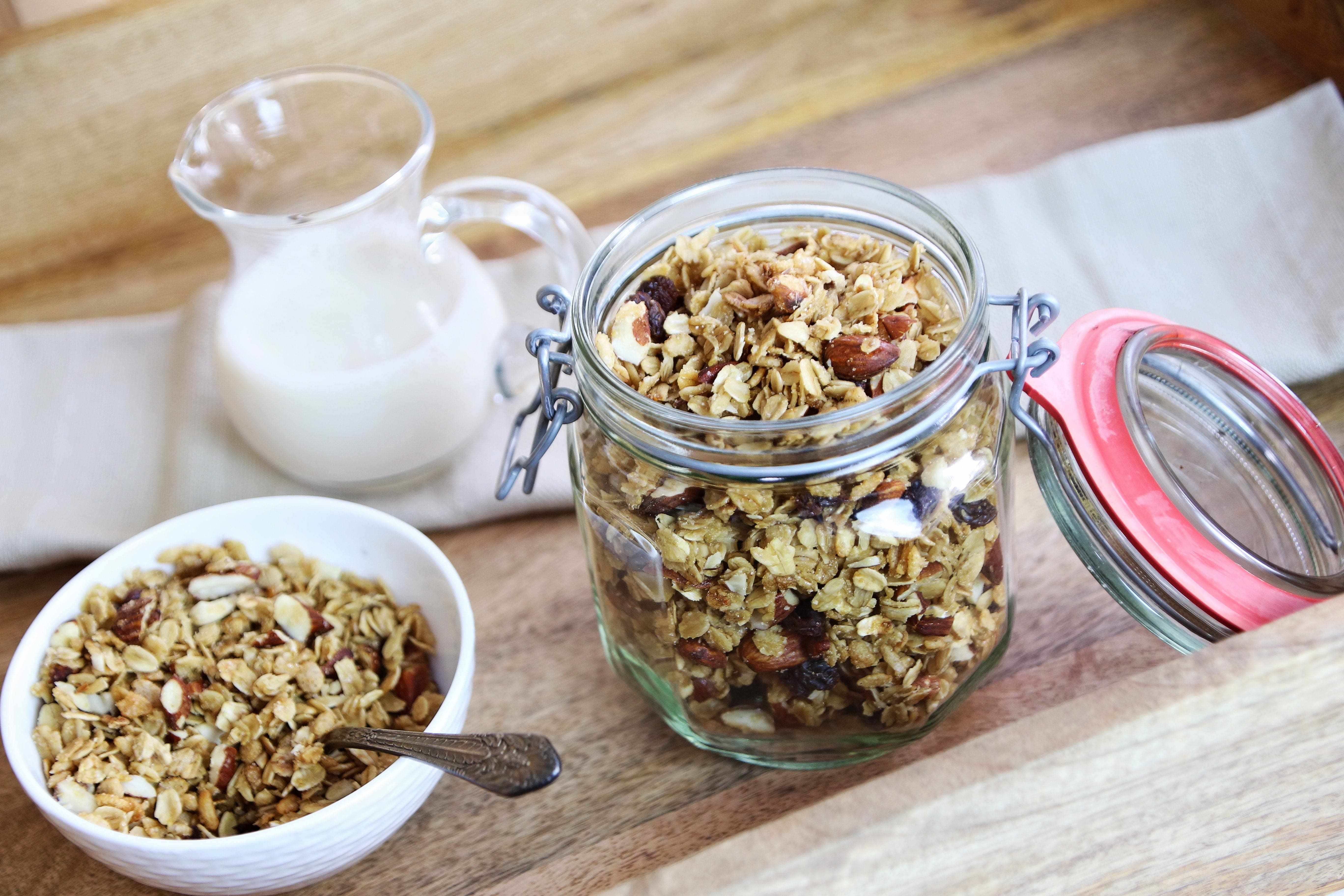 A batch of granola is great for lazy breakfasts...