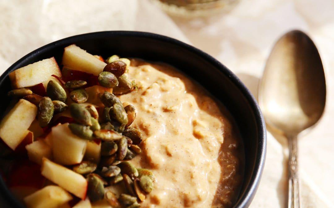 Soak Your Oats! Creamy Pumpkin Spice Oats For a Comforting Breakfast