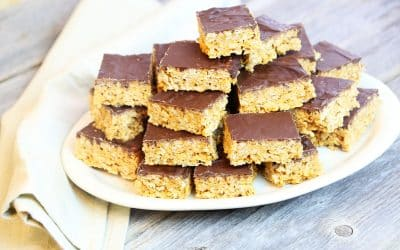 Make Easy Peanut Butter and Chocolate Crispy Bars