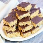 Vegan Peanut Butter and Chocolate Crispy Bars