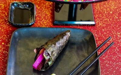 Celebrate Valentine's With Brilliant Beet Handrolls