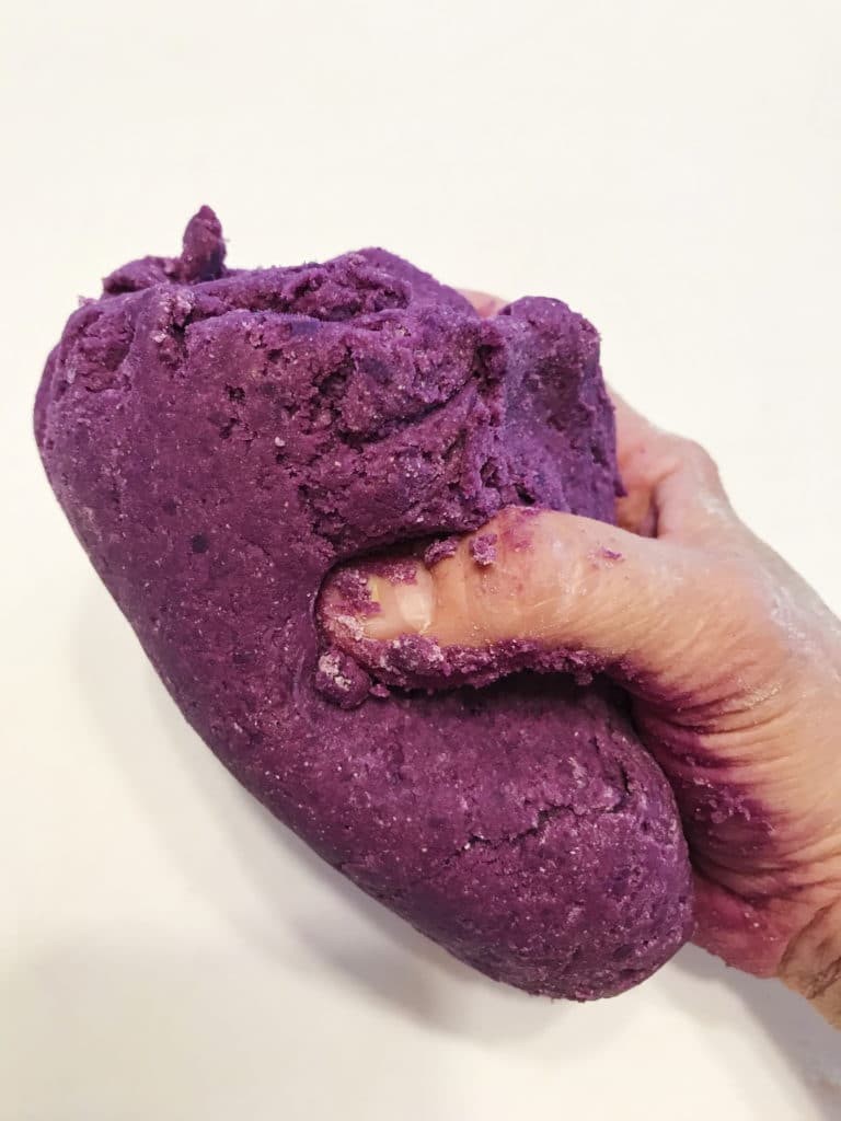 purple gnocchi dough
