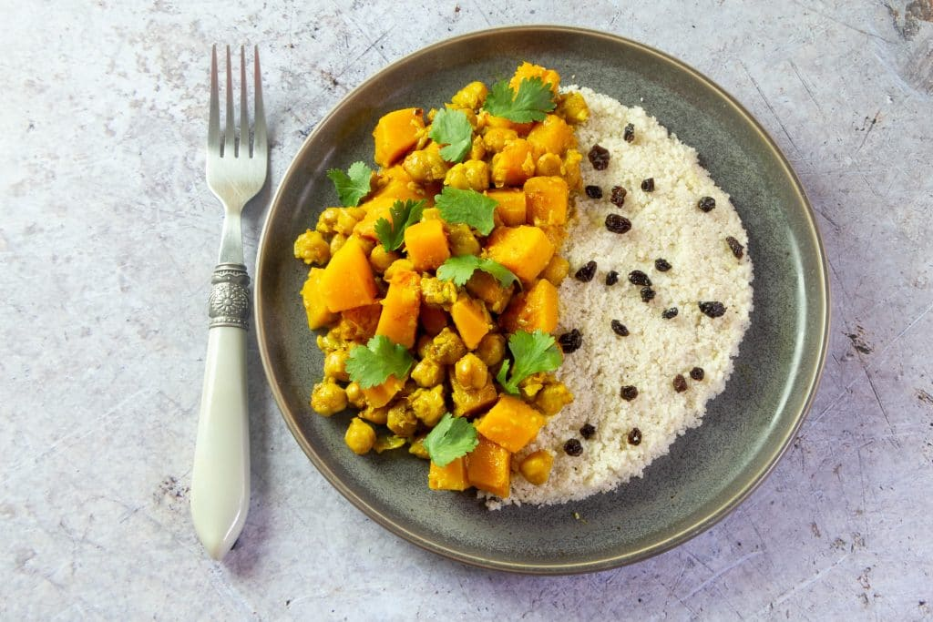Butternut Squash and Chickpea Curry with Fonio