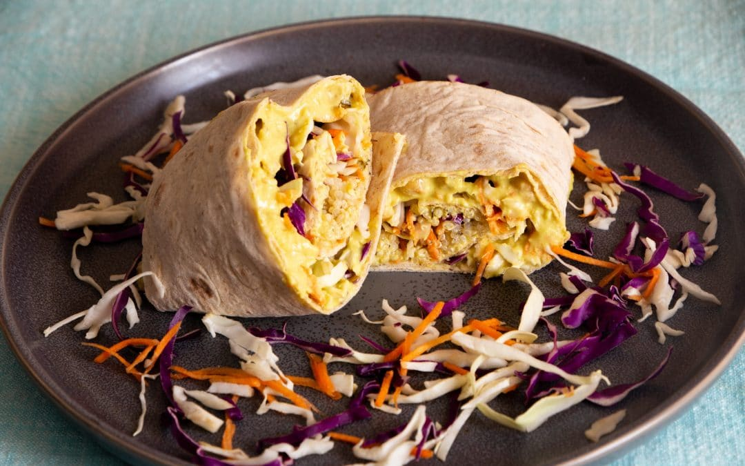 Make a Cheesy Veggie Wrap with My Vegan Meal Prep Cookbook