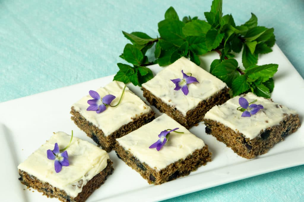 Plant-Based Purple Carrot Bars with Blueberries