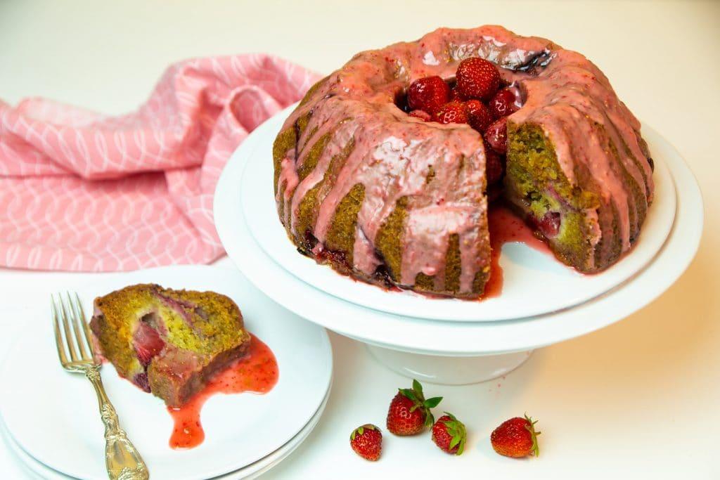Vegan Strawberry Bundt Cake