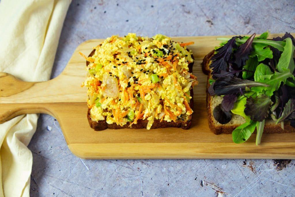 tofu egg salad is convenient meal prep