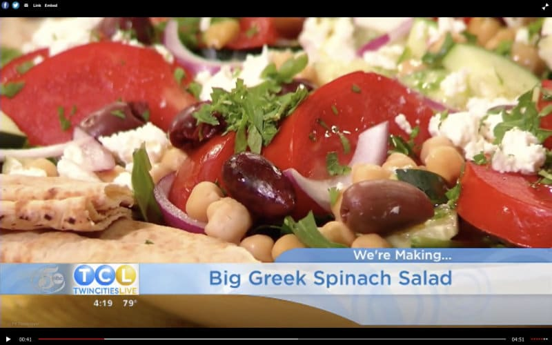 Big Fat Greek Salad on Twin Cities Live