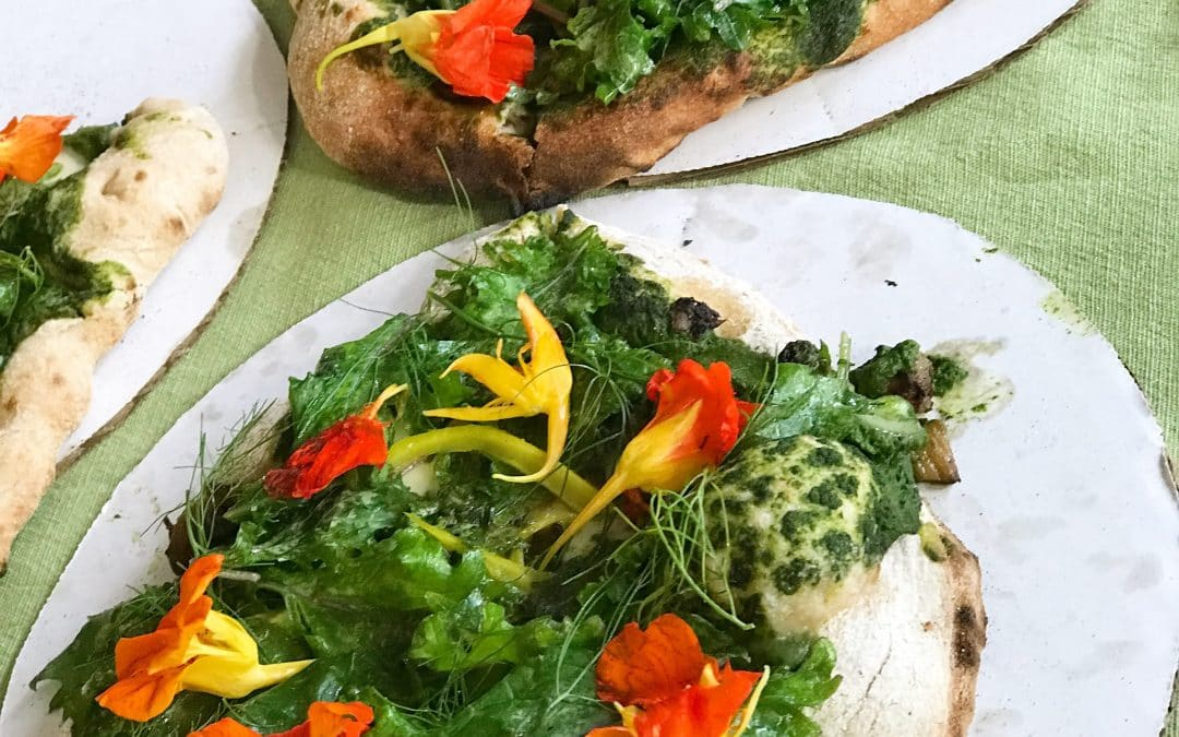 Make a Pizza with Edible Flowers, It's Like Eating Summer