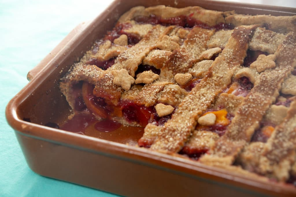 Raspberry-Nectarine Slab Pie