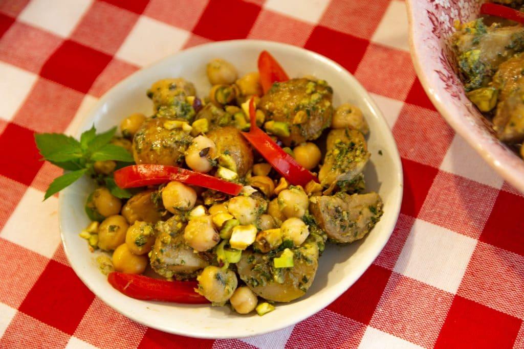 fresh mint pesto potato salad