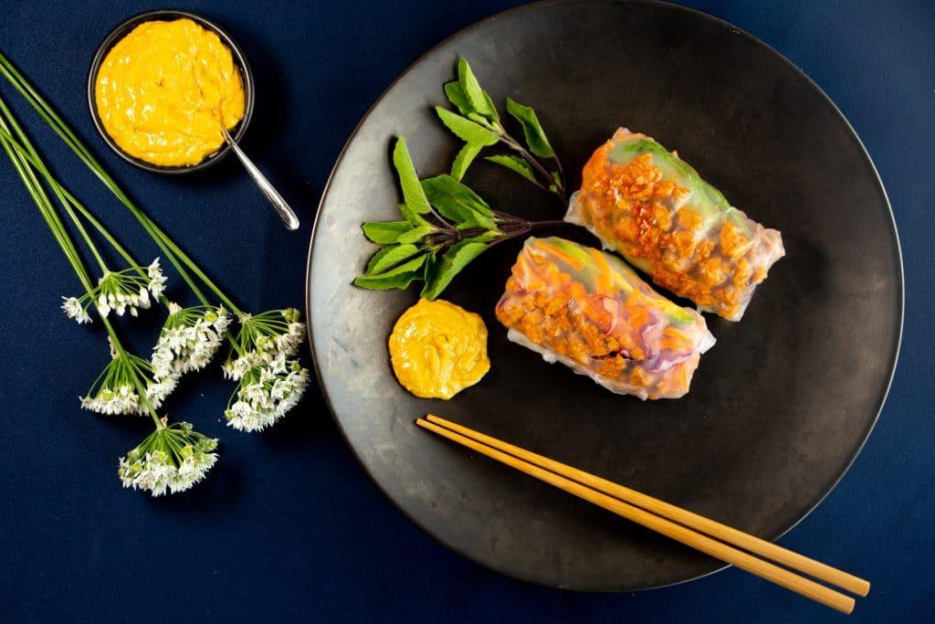 Tuno Plant Based Fish Summer Rolls