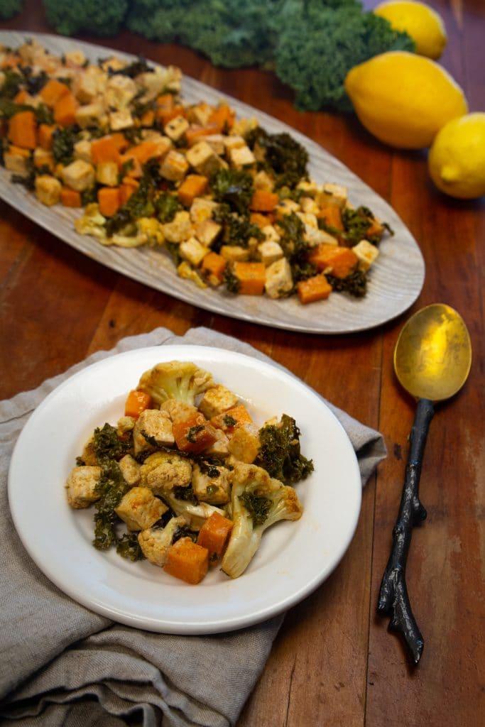Sheet Pan Dinner with Tofu and Veggies
