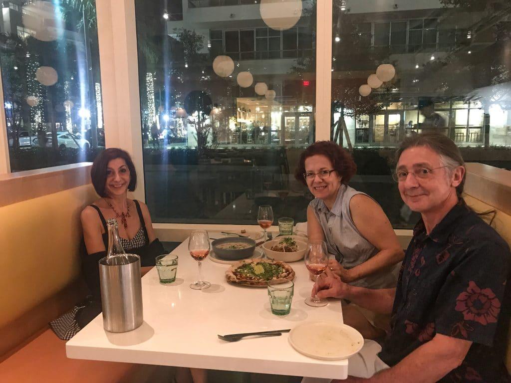 Dinner with Ellen Kanner at Thatch