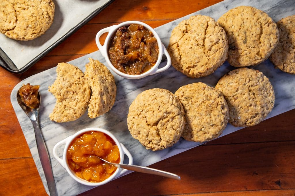 crunchy buckwheat biscuits