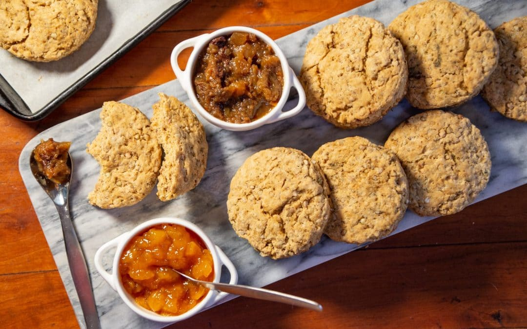 Buckwheat Biscuits, With A Crunchy Secret Ingredient