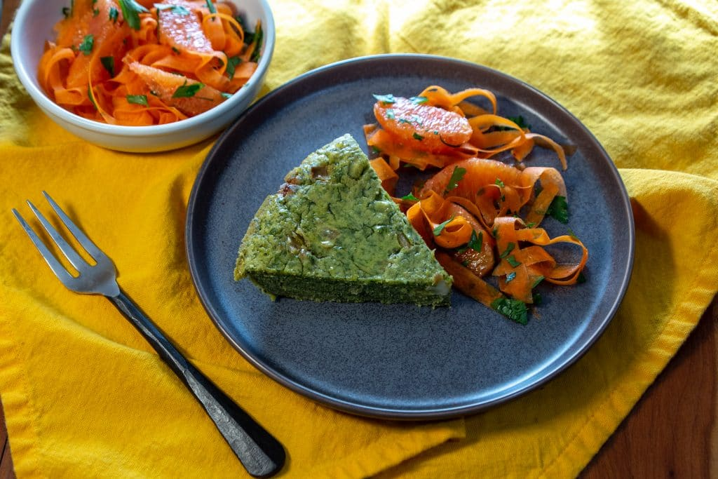 vegan chickpea frittata with kala namak
